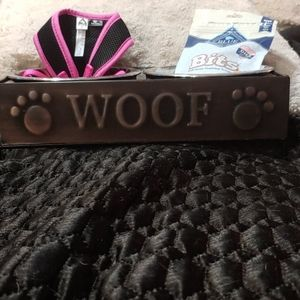 """Puppy Loved """"Woof"""" Bowl Set, Top Paw Harness,Treat"""